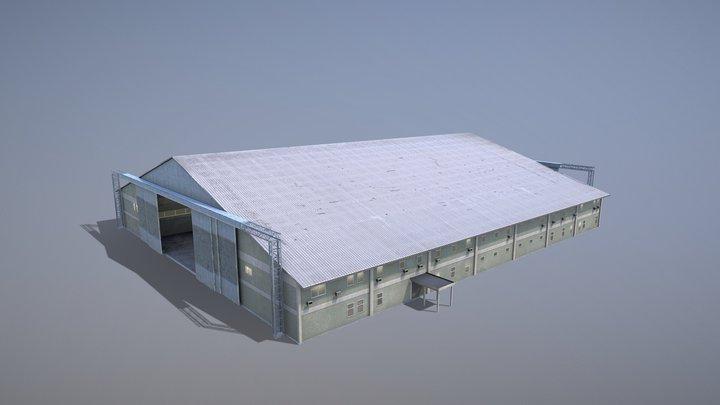 MilitaryBase_PortoVelho_Hangar_01 3D Model