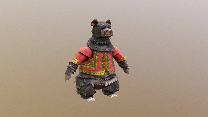 Accordeon Bear 3D Model