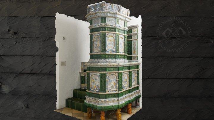 Tiled stove, Kachelofen, Kakelugn, 1644 3D Model