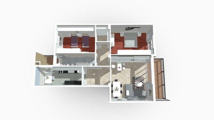 Trilocale con cucina abitabile San Giuliano 3D Model