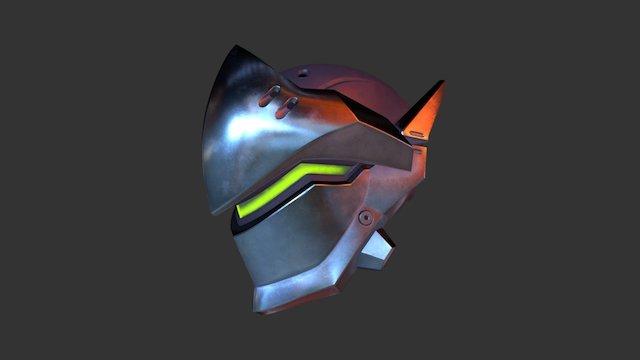 Overwatch Genji's Helmet 3D Model