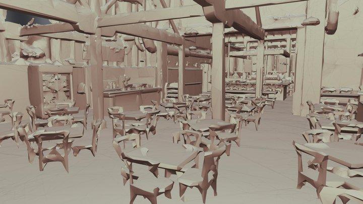 Foxtown Brewing - Matterport OBJ File 3D Model