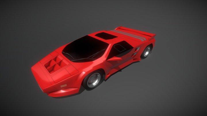 1991 Vector W8 3D Model