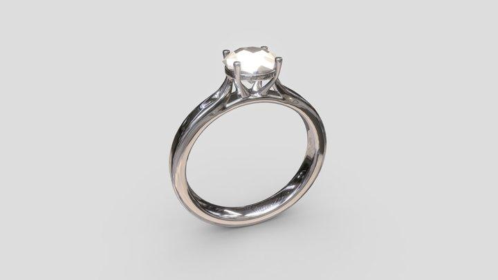 Diamond Engagement Ring 3D Model