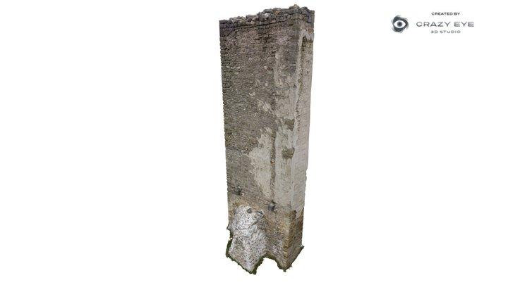 Pylon of medieval castle 3D Model