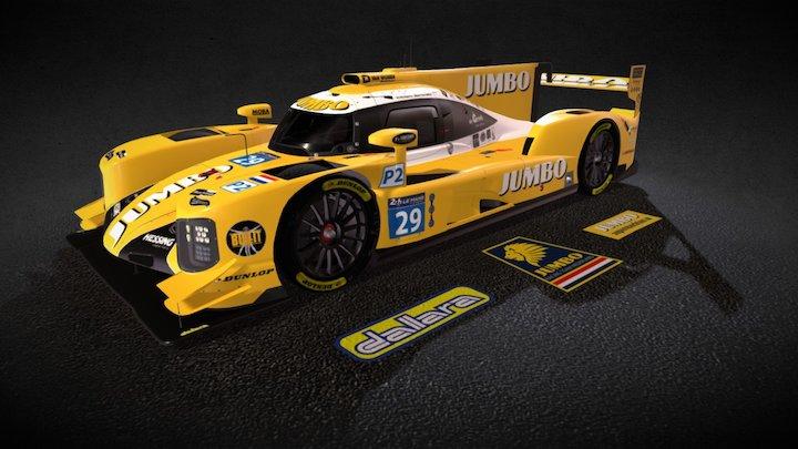 Dallara P217 LMP2 - Racing Team Nederland 3D Model