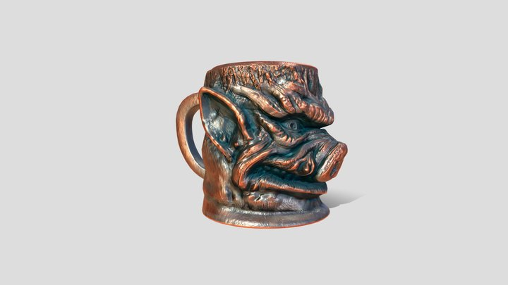 One cup of HOG 3D Model