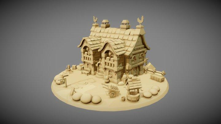 WIP House model 3D Model