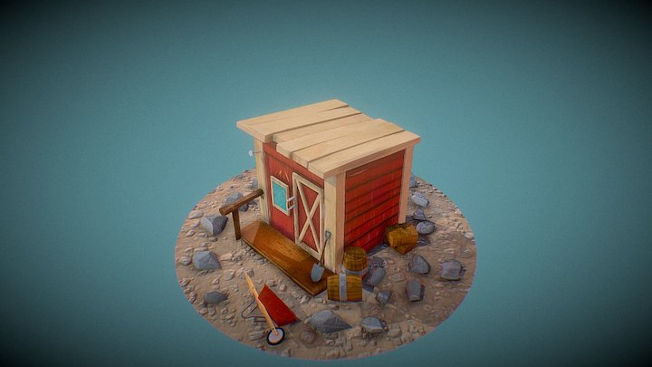 Outhouse/Barn 3D Model