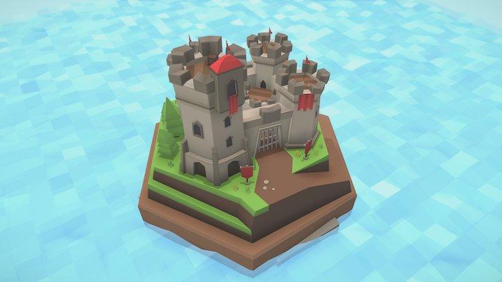 High сastle tile 3D Model