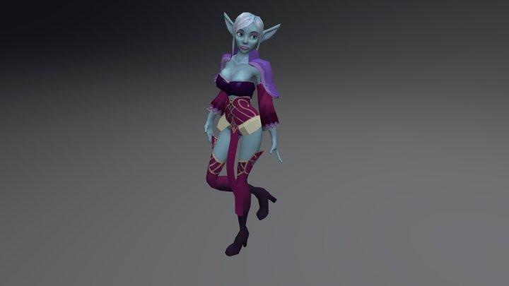 The Final Elf Mage W Diffuse 3D Model