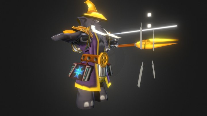Zabrihis The Wise Magician - Low Poly 3D Model 3D Model