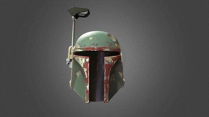 Boba Fett Helmet (PBR) 3D Model