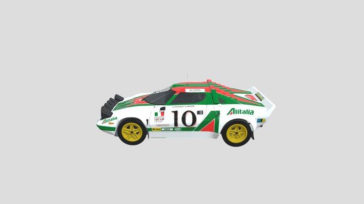 Lancia Stratos HF - Rally - Alitalia Livery 3D Model