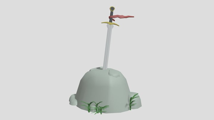 Clarent - First Arthur's Sword 3D Model