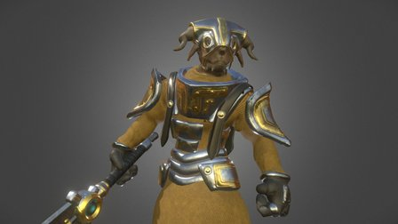 Felkrast Knight 3D Model