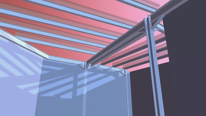 STRUCTURA METLICA PROPUSA V02 3D Model