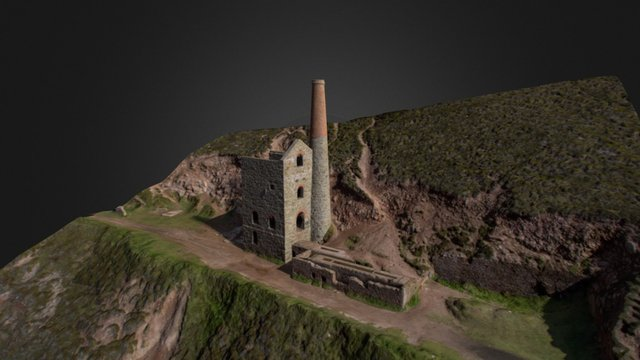 Towanroath Engine House - Wheal Coates 3D Model
