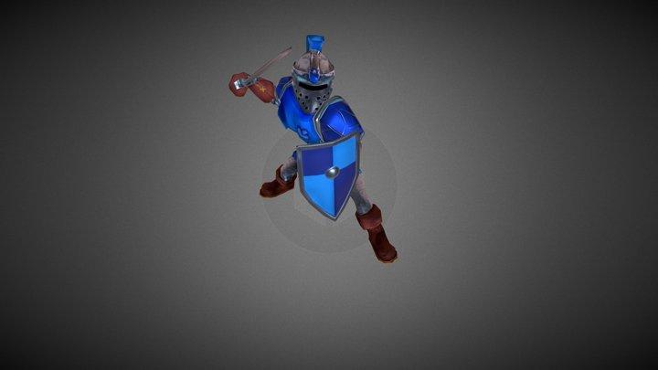 Dungeon Box Warrior Hero 3D Model