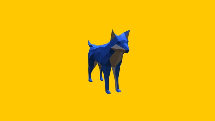 Wolf - low poly 3D Model
