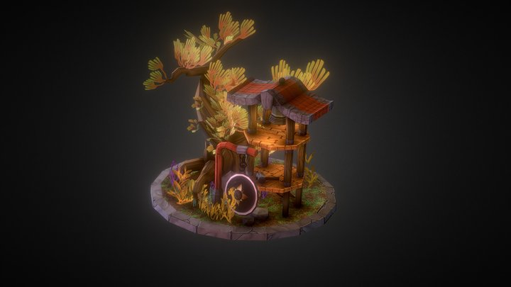 Bell Tower, Abandoned Forest 3D Model