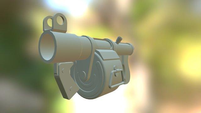 TF2 Stickybomb Launcher 3D Model