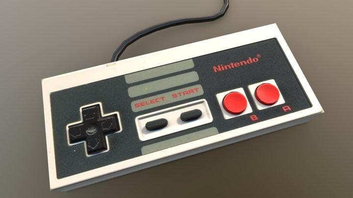 Nintendo Controller 3D Model