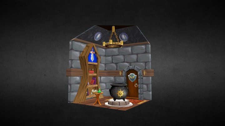 Witch Lair 3D Model
