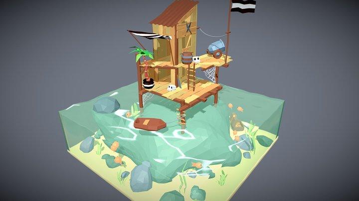 Pirate Base 3D Model