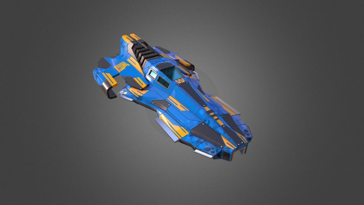Flatline Racing Ship 3D Model