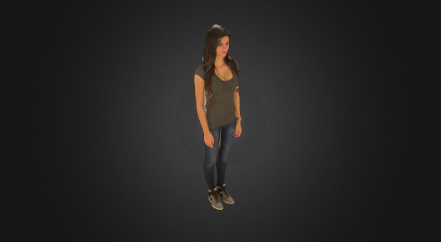 Anna in jeans 3D Model