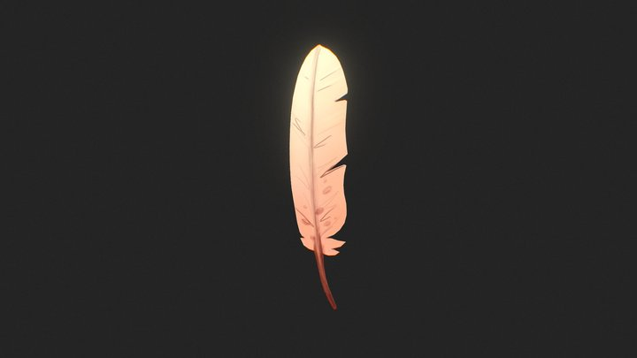 Day 1. Feather 3D Model