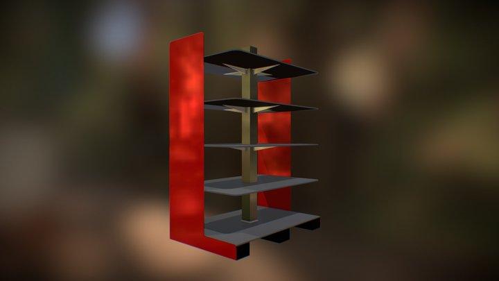Large Retail Beverage Shelf Island Design Study 3D Model