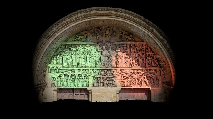 The tympanum of the Last Judgment 3D Model