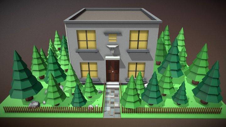 House (Low Poly) (FREE) 3D Model