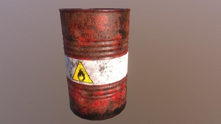 Low poly barrel - PBR 3D Model
