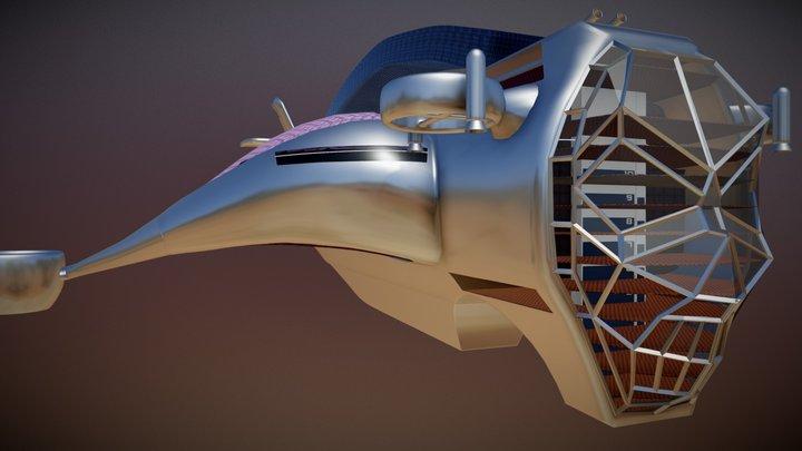 Precariat Air Ship v3 3D Model
