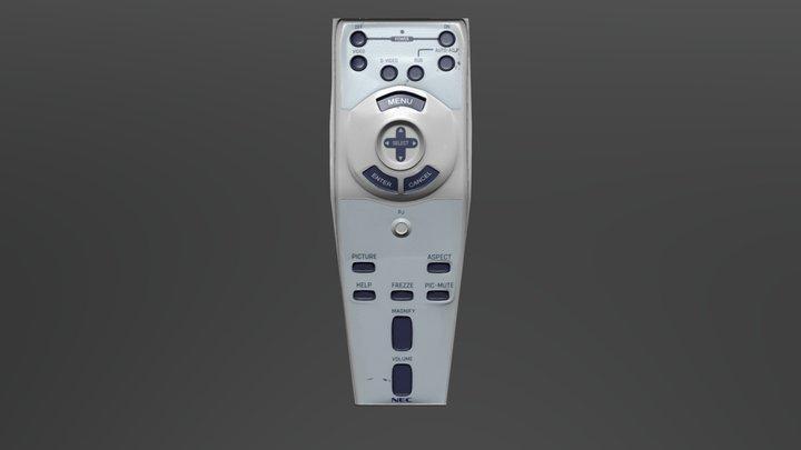 3D NEC Remoute UPDATE 3D Model