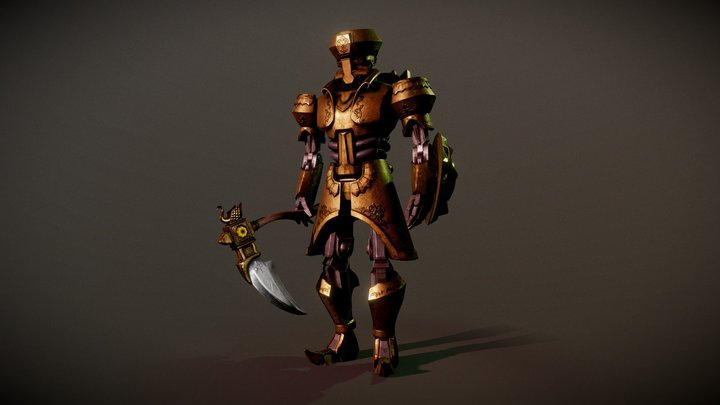 Mecha Warrior 3D Model
