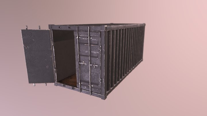 Classic Shipping Container (Free/Gameready) 3D Model