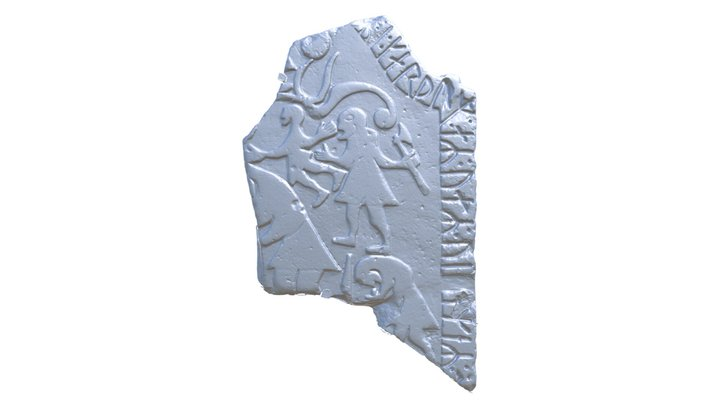 Ardre II Picture stone fragment 3D Model