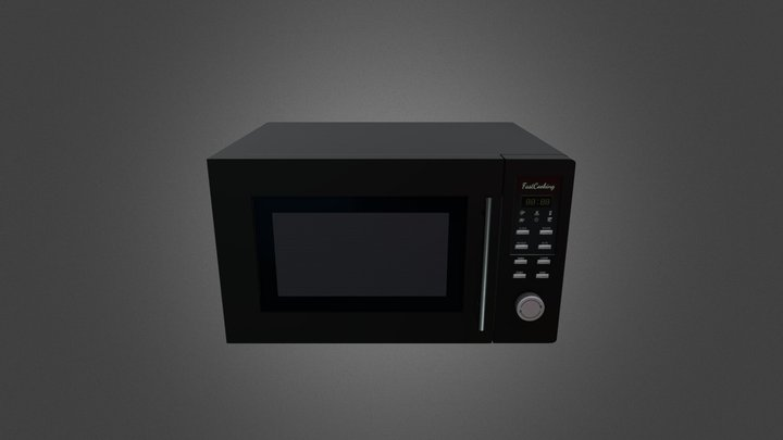 Microwave GameReady - LowPoly with PBR Material 3D Model