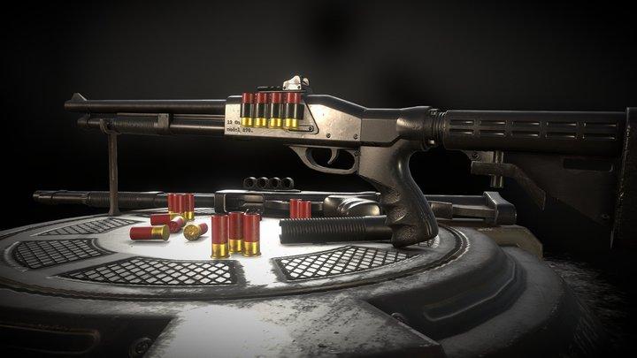RM 870 Shotgun 3D Model