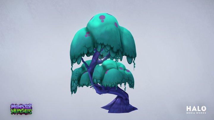 Monster Munchies - Tree BG Prop 3D Model