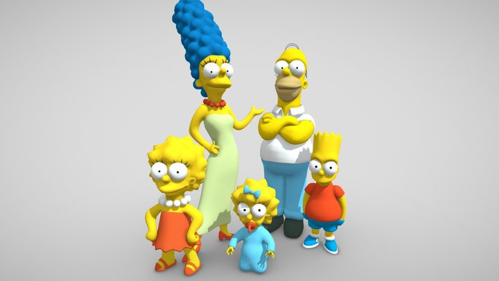 Simpsons Family 3D Model