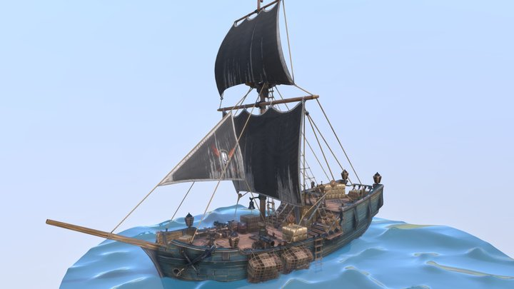 Shorecut - Gunboat 3D Model