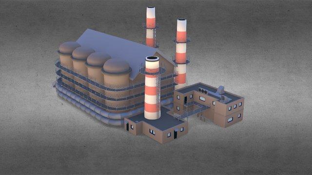 7 4-factory 3D Model