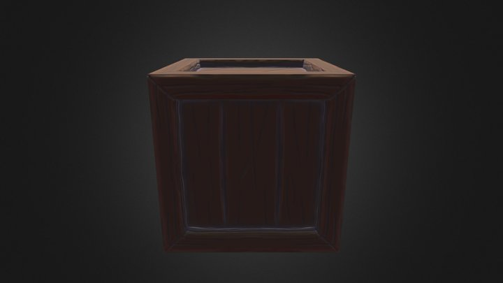 Stylized Crate 3D Model