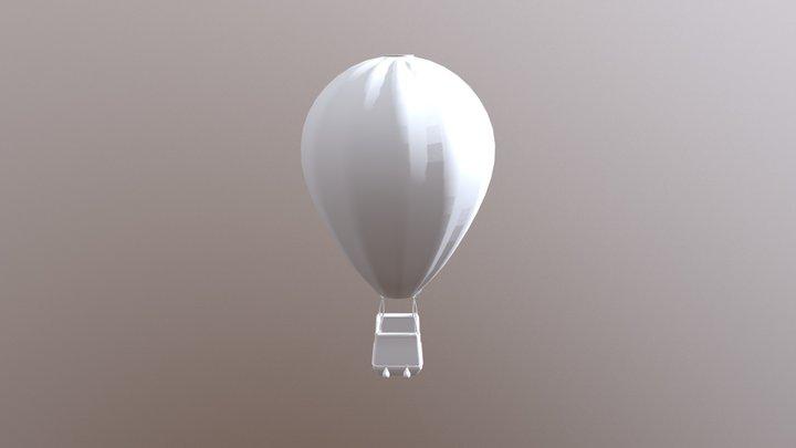 Hot air Balloon (No texture, UV opened) 3D Model