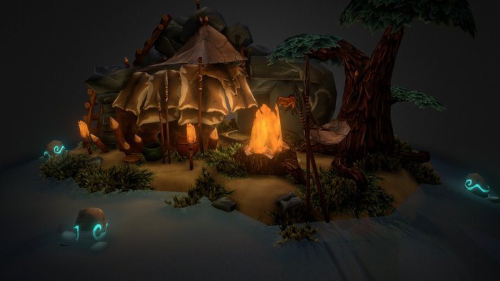 StoneAge Shelter 3D Model